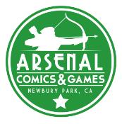 Arsenal Comics & Games logo